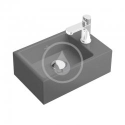 VILLEROY & BOCH - Memento Umývadielko 400x260 mm, bez prepadu, 1 otvor na batériu, CeramicPlus, Glossy Black (533341S0)
