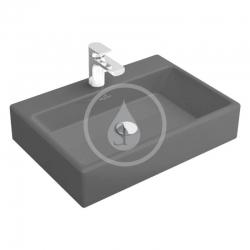 VILLEROY & BOCH - Memento Umývadlo 600x420 mm, bez prepadu, otvor na batériu, CeramicPlus, Glossy Black (51336GS0)