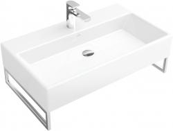 VILLEROY & BOCH - Memento Umývadlo, 800 mm x 470 mm, biele – jednootvorové umývadlo, bez prepadu, s Ceramicplus (513381R1)