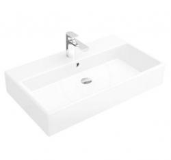 VILLEROY & BOCH - Memento Umývadlo, 800 mm x 470 mm, biele – jednootvorové umývadlo, s prepadom, s Ceramicplus (513385R1)