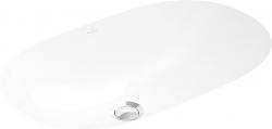 VILLEROY & BOCH - O.novo Bezotvorové umývadlo na zabudovanie zospodu s prepadom, 600 mm x 350 mm, biele – umývadlo, s Ceramicplus (416260R1)