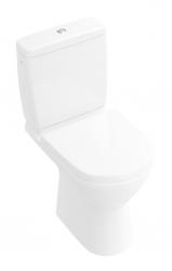 VILLEROY & BOCH - O.novo WC kombi misa Compact, zadný odpad, DirectFlush, CeramicPlus, alpská biela (5689R0R1)