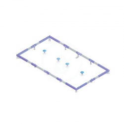 VILLEROY & BOCH - Příslušenství Inštalačný rám ViFrame na vaničky od 1000x1000 mm (U91412200)