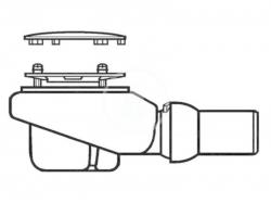 VILLEROY & BOCH - Subway Infinity Odtoková súprava Tempoplex Plus Compact 90 mm, matný chróm (92250069)