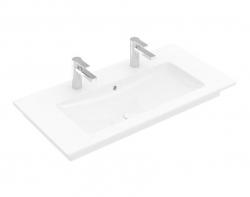 VILLEROY & BOCH - Venticello Umývadlo nábytkové 1000x500 mm, s prepadom, 2 otvory na batériu, alpská biela (4104AK01)