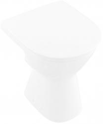 VILLEROY & BOCH - ViCare Stojaci WC bezbariérové, zadný odpad, CeramicPlus, alpská biela (468310R1)