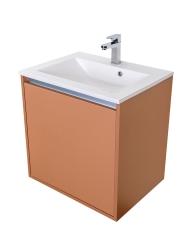 VÝPRODEJ - Amsterdam umývadlová skrinka šírky 60, 1x šuplík, metallic + umývadlo (CA.U1B.133.060UM)