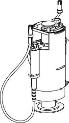 Vypúšťací ventil WC moduly SANIT s dvoch bovdenovým ovládaním, starý typ SA01220000000 (SA01220000000)