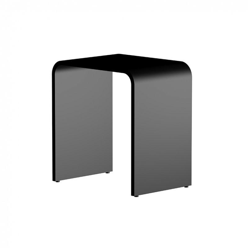STEINBERG - Stolička z MINE STONE, čierna (430 7000 S)