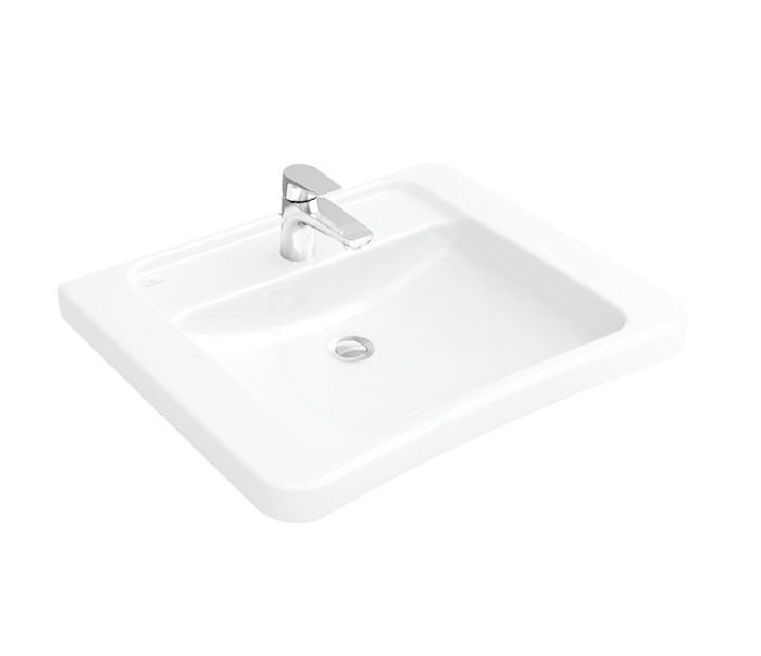 VILLEROY & BOCH - Architectura Umývadlo Vita 600x555 mm, bez prepadu, otvor na batériu, AntiBac, CeramicPlus, alpská biela (517861T2)