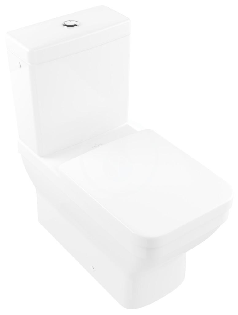 VILLEROY & BOCH - Architectura WC kombi misa, Vario odpad, CeramicPlus, alpská biela (568710R1)