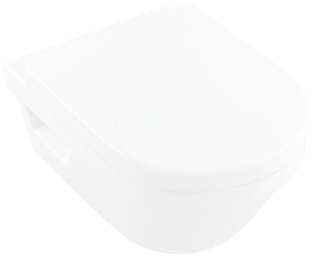 VILLEROY & BOCH - Architectura Závesné WC XL, zadný odpad, DirectFlush, AntiBac, alpská biela (4688R0T1)