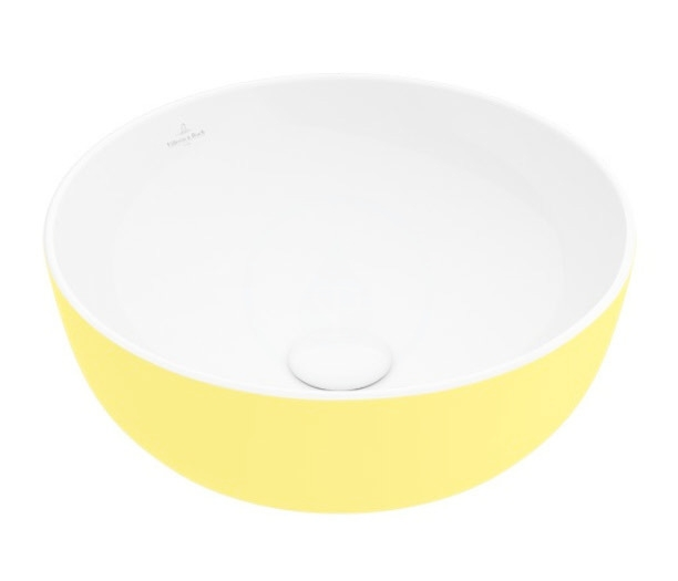 VILLEROY & BOCH - Artis Umývadlo na dosku, priemer 430 mm, Lemon (417943BCT4)