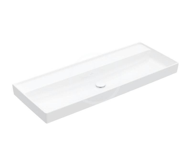 VILLEROY & BOCH - Collaro Umývadlo nábytkové 1200x470 mm, bez prepadu, bez otvoru na batériu, alpská biela (4A33C301)