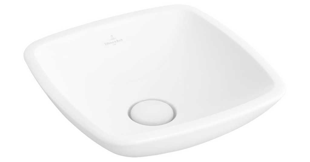 VILLEROY & BOCH - Loop&Friends Umývadlo na dosku, 380x380 mm, bez prepadu, bez otvoru na batériu, alpská biela (51490101)