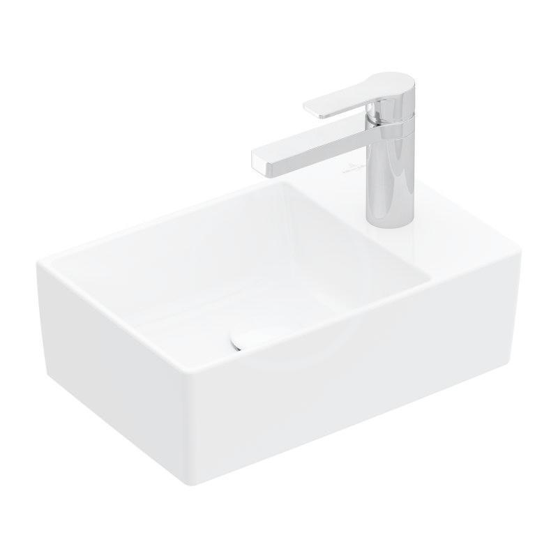 VILLEROY & BOCH - Memento 2.0 Umývadielko nábytkové 400x260 mm, bez prepadu, 1 otvor na batériu, CeramicPlus, alpská biela (43234GR1)