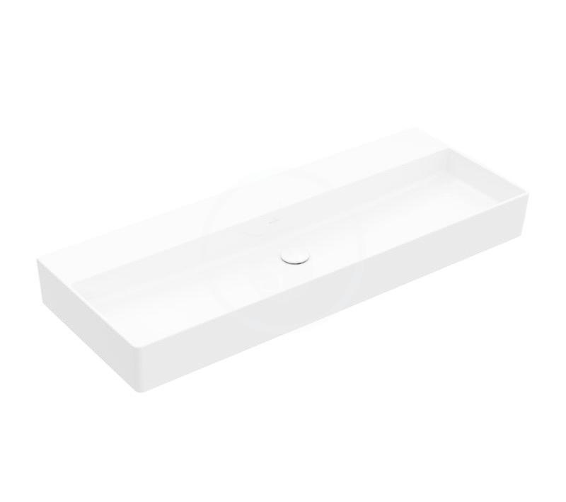 VILLEROY & BOCH - Memento 2.0 Umývadlo 1200x470 mm, bez prepadu, bez otvoru na batériu, CeramicPlus, alpská biela (4A22C3R1)