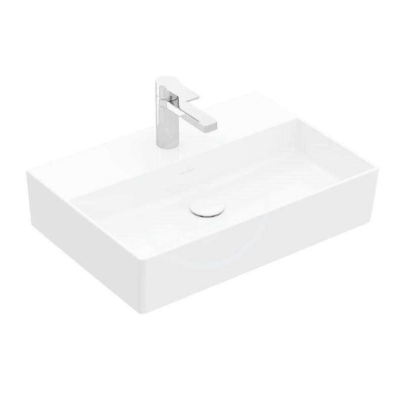 VILLEROY & BOCH - Memento 2.0 Umývadlo 500x420 mm, bez prepadu, otvor na batériu, CeramicPlus, alpská biela (4A2251R1)