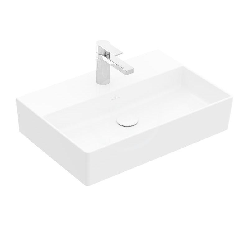 VILLEROY & BOCH - Memento 2.0 Umývadlo 600x420 mm, bez prepadu, otvor na batériu, alpská biela (4A226101)
