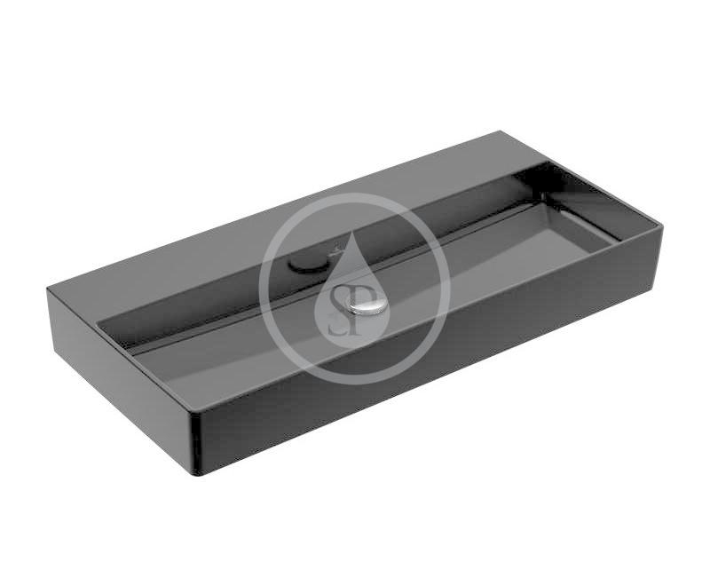 VILLEROY & BOCH - Memento 2.0 Umývadlo nábytkové 1000x470 mm, bez prepadu, bez otvoru na batériu, CeramicPlus, Glossy Black (4A221FS0)