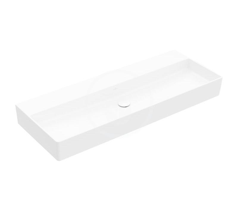 VILLEROY & BOCH - Memento 2.0 Umývadlo nábytkové 1200x470 mm, bez prepadu, bez otvoru na batériu, CeramicPlus, alpská biela (4A22CFR1)