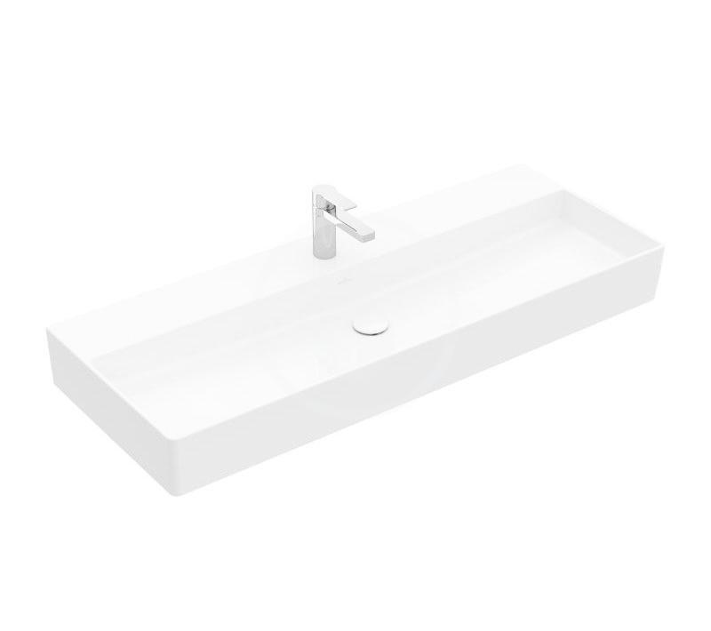 VILLEROY & BOCH - Memento 2.0 Umývadlo nábytkové 1200x470 mm, bez prepadu, otvor na batériu, alpská biela (4A22CH01)