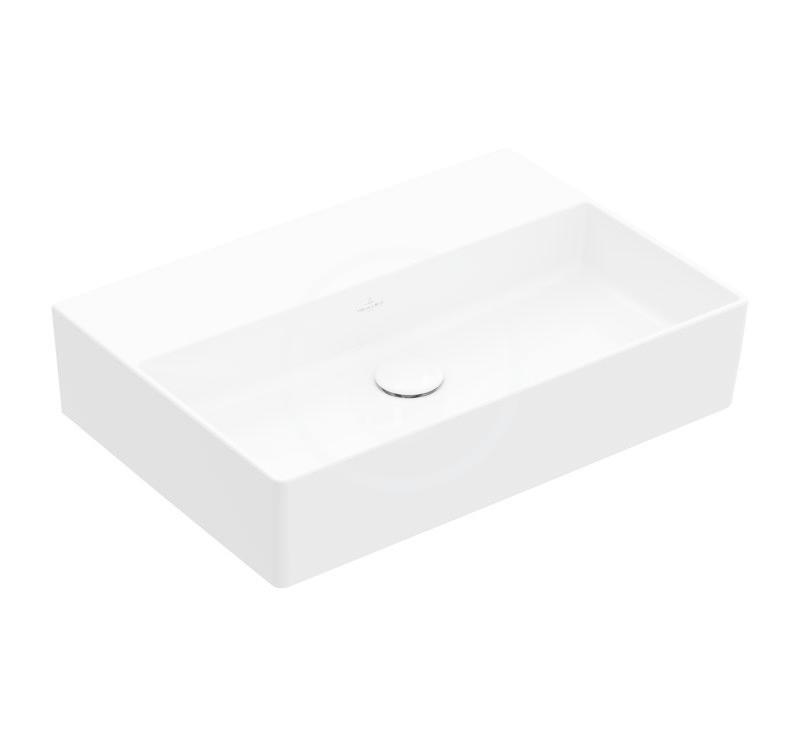 VILLEROY & BOCH - Memento 2.0 Umývadlo nábytkové 600x420 mm, bez prepadu, bez otvoru na batériu, CeramicPlus, alpská biela (4A226FR1)