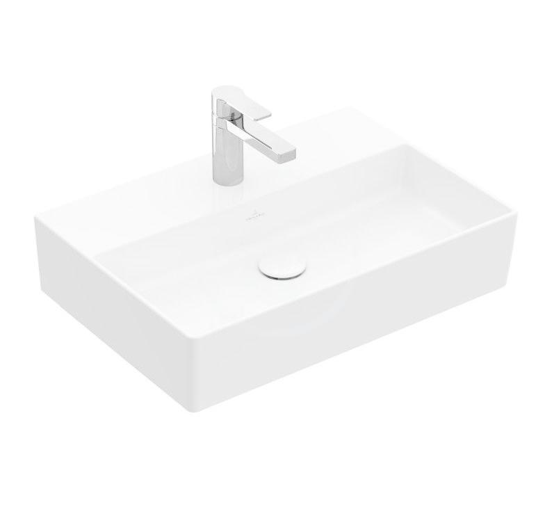VILLEROY & BOCH - Memento 2.0 Umývadlo nábytkové 600x420 mm, bez prepadu, otvor na batériu, CeramicPlus, alpská biela (4A226LR1)