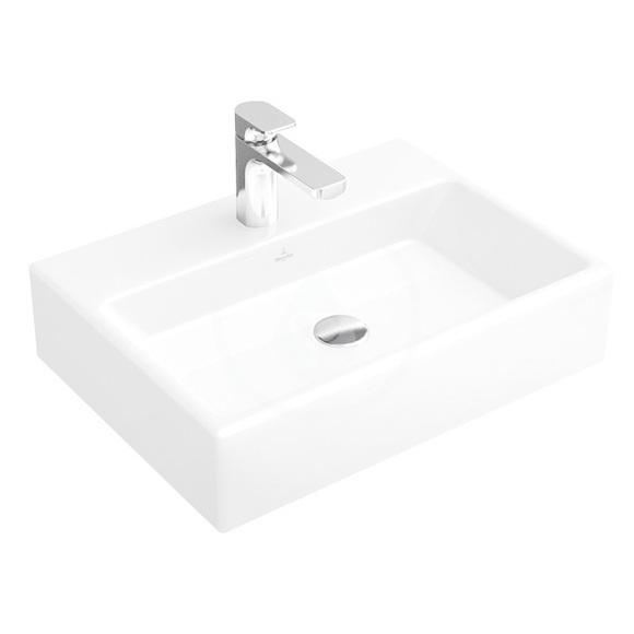 VILLEROY & BOCH - Memento Umývadlo 600x420 mm, bez prepadu, otvor na batériu, CeramicPlus, Star White (51336GR2)