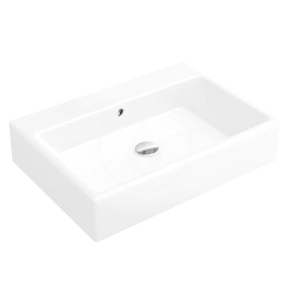 VILLEROY & BOCH - Memento Umývadlo na dosku, 500x420 mm, s prepadom, bez otvoru na batériu, alpská biela (51355201)