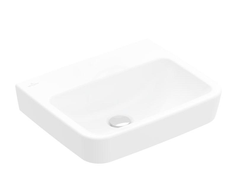 VILLEROY & BOCH - O.novo Umývadielko 500x370 mm, bez prepadu, bez otvoru na batériu, AntiBac, alpská biela (434453T1)