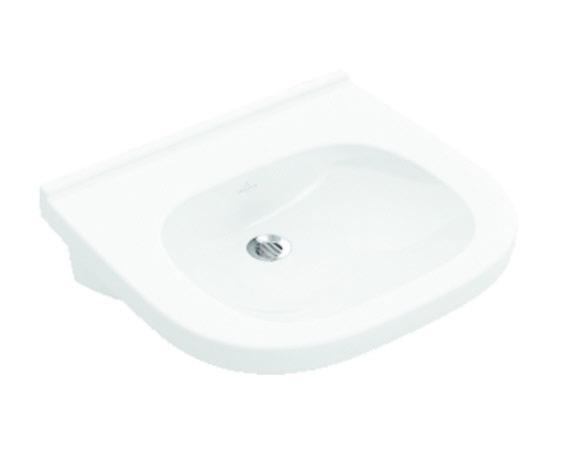 VILLEROY & BOCH - O.novo Umývadlo Vita 610x550 mm, bez prepadu, bez otvoru na batériu, AntiBac, alpská biela (411963T1)
