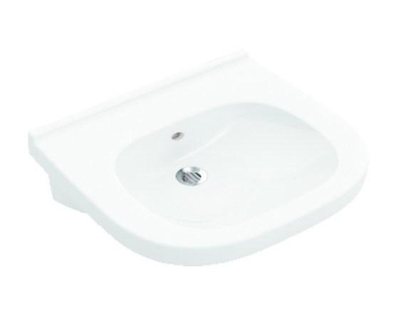 VILLEROY & BOCH - O.novo Umývadlo Vita 610x550 mm, s prepadom, bez otvoru na batériu, AntiBac, alpská biela (411962T1)