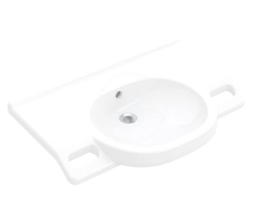 VILLEROY & BOCH - O.novo Umývadlo Vita 800x550 mm, s prepadom, bez otvoru na batériu, AntiBac, alpská biela (412082T1)