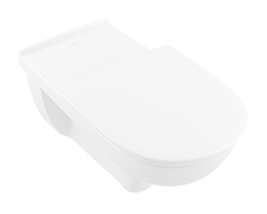 VILLEROY & BOCH - O.novo Vita Závesné WC bezbariérové, zadný odpad, DirectFlush, AntiBac, alpská biela (4601R0T1)