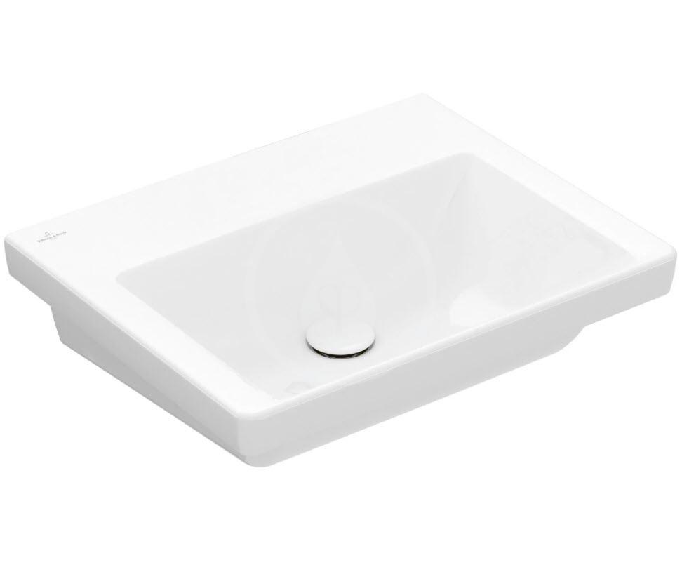 VILLEROY & BOCH - Subway 3.0 Umývadlo nábytkové 550x440 mm, bez prepadu, bez otvoru na batériu, CeramicPlus, alpská biela (4A70F6R1)