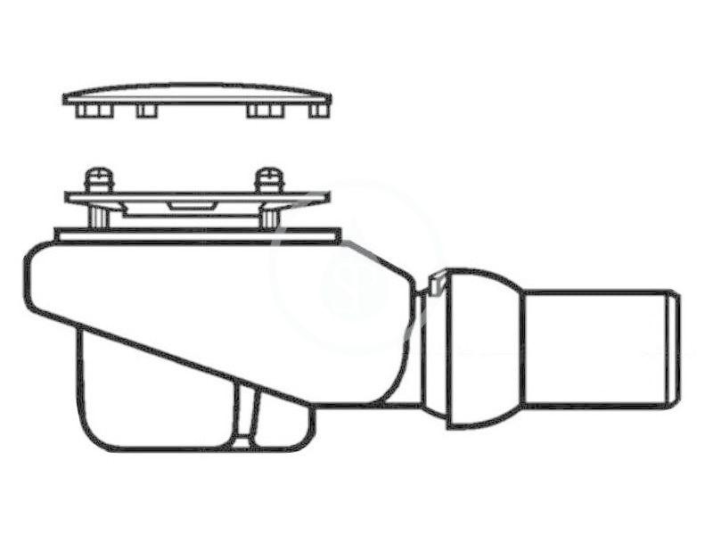 VILLEROY & BOCH - Subway Infinity Odtoková súprava Tempoplex Plus Compact 90 mm, biela (92250068)