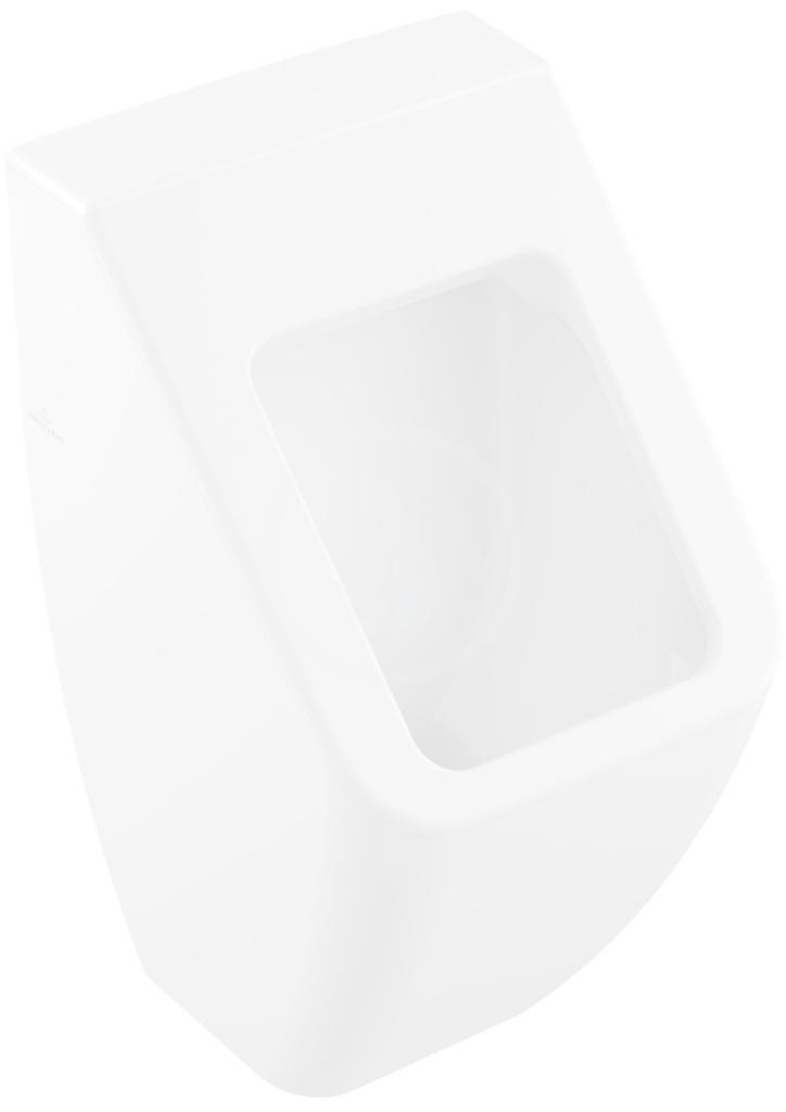 VILLEROY & BOCH - Venticello Odsávací pisoár bez poklopu, 285x545x315 mm, CeramicPlus, Stone White (5504R0RW)