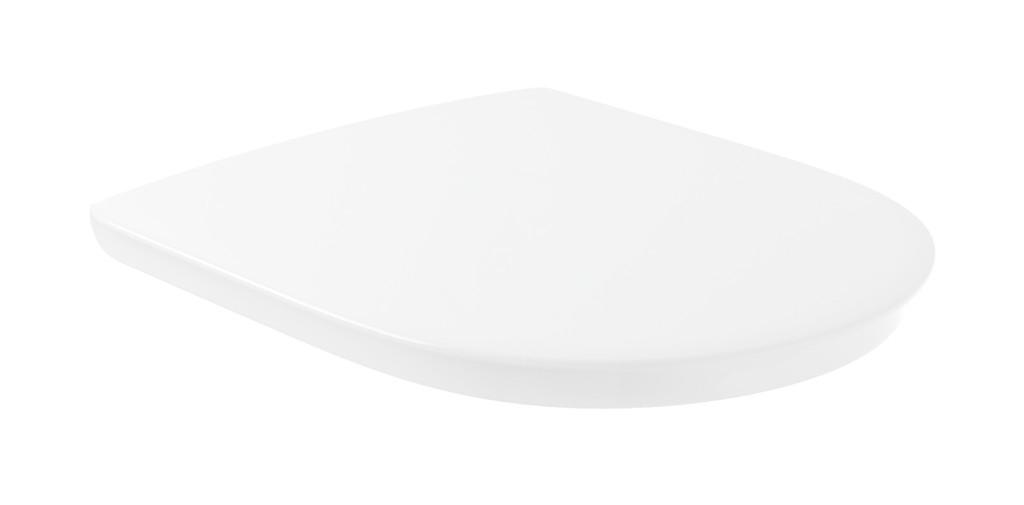 VILLEROY & BOCH - ViCare WC sedadlo Compact, AntiBac, alpská biela (9M7261T1)